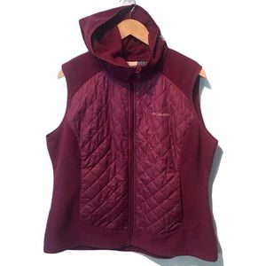 Columbia Thermal Coil fleece quilted vest XL